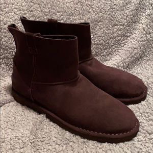 Ugg Classic Unlined Mini Ankle Boots Brown Size 11